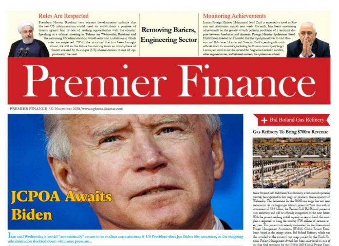 Premier Finance Newspaper – No 833 – Tehran,Iran